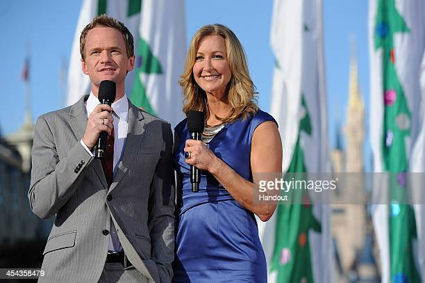 In this handout photo provided by Disney Parks, Actor Neil Patrick Harris and TV Personality Lara Spencer co-host the Disney Parks Christmas Day...