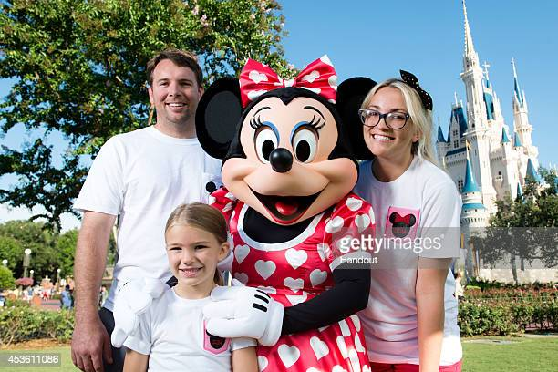 In this handout photo provided by Disney Parks actress and country music artist Jamie Lynn Spears poses with her husband Jamie Watson her sixyearold...