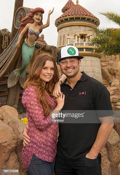 In this handout photo provided by Disney Parks actress JoAnna Garcia Swisher who portrays Ariel on the ABC series 'Once Upon A Time' poses with her...