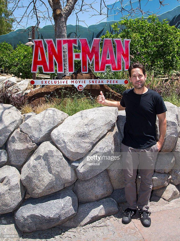 """Ant-Man"" Star Paul Rudd Visits Disneyland Resort"