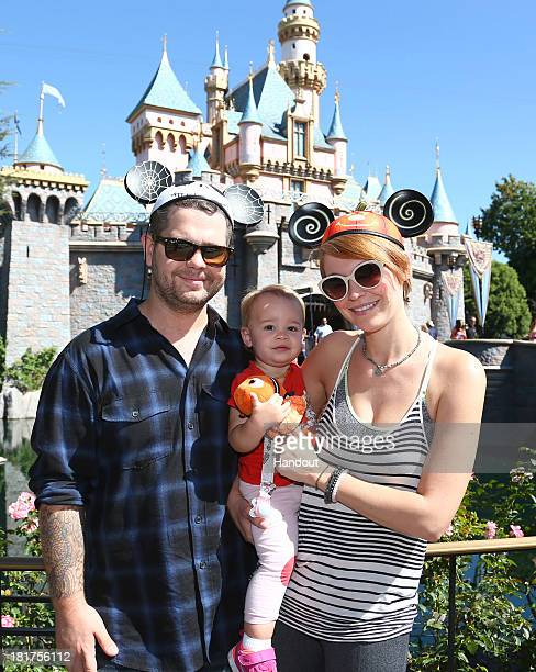In this handout photo provided by Disney Parks Dancing With the Stars competitor Jack Osbourne his wife Lisa Stelly and their daughter Pearl...