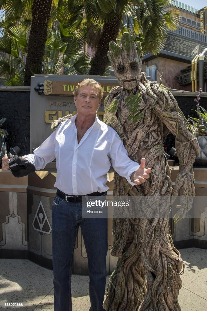 David Hasselhoff Visits Guardians Of The Galaxy - Mission: Breakout! At Disney California Adventure