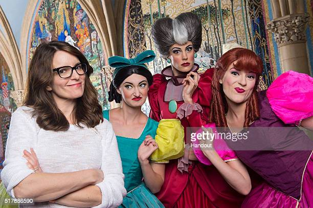 In this handout photo provided by Disney Parks Emmy Golden Globe SAG and Peoples Choice awardwinner Tina Fey poses with Disney's original mean girls...