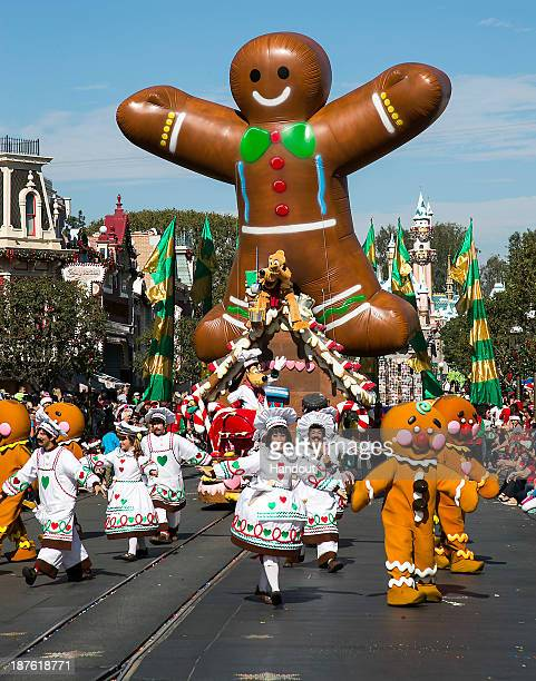 In this handout photo provided by Disney Parks Holiday floats and performers fill Main Street USA at Disneyland during the taping of the 'Disney...