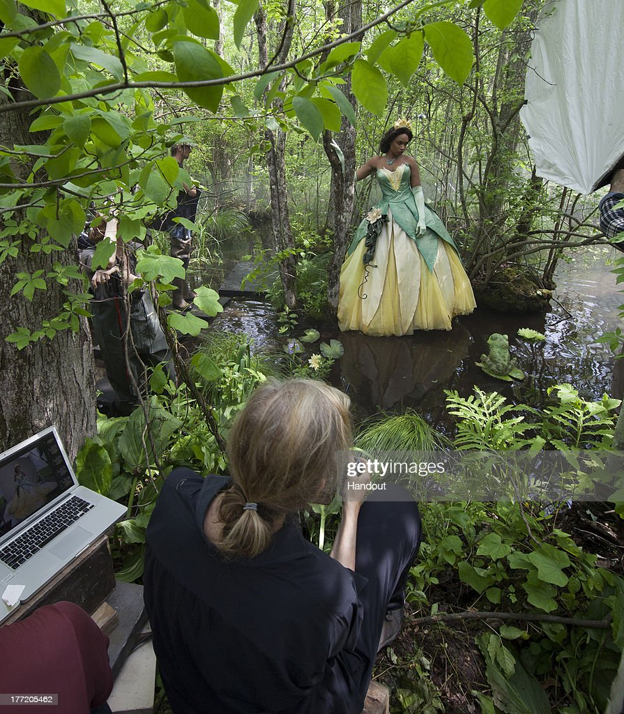 In this handout photo provided by Disney Parks, in this photo taken May 29, 2013 Jennifer Hudson poses for acclaimed photographer Annie Leibovitz as Tiana from 'The Princess and the Frog' in Patterson, New York. The newest 'Disney Dream Portrait' was commissioned by Disney Parks for their ongoing celebrity advertising campaign which debuted in 2007. The Leibovitz image, which will appear in upcoming issues of Vanity Fair, O - The Oprah Magazine, and People is entitled, 'Where you always follow your heart.' Behind the scenes with Jennifer Hudson as Tiana.