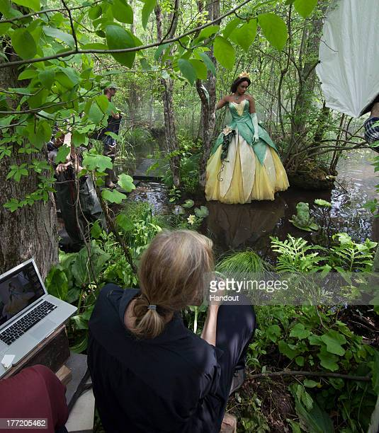 In this handout photo provided by Disney Parks in this photo taken May 29 2013 Jennifer Hudson poses for acclaimed photographer Annie Leibovitz as...