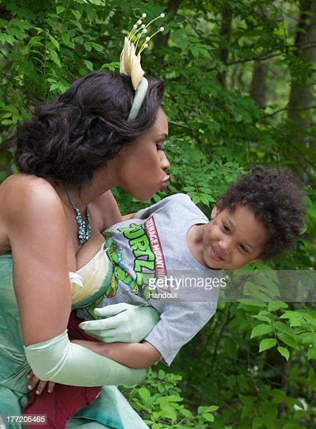 In this handout photo provided by Disney Parks in this photo taken May 29 2013 Jennifer Hudson in costume as Tiana from Disney's 'The Princess and...