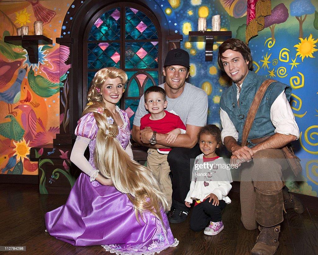 Tom Brady And Son Celebrate At Disneyland : News Photo