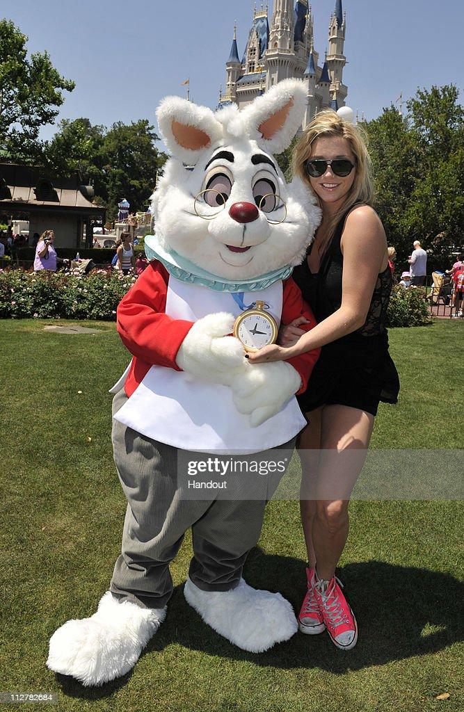 Pop Singer Ke$ha Visits Disney World : News Photo