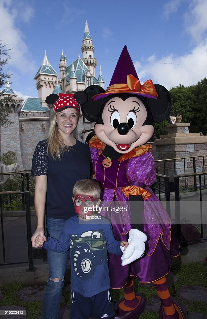 CA: Reese Witherspoon and Son Celebrate Halloween Time at Disneyland