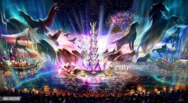 In this handout photo provided by Disney Parks 'Rivers of Light' at Disney's Animal Kingdom Expected to open next spring is seen 'Rivers of Light'...