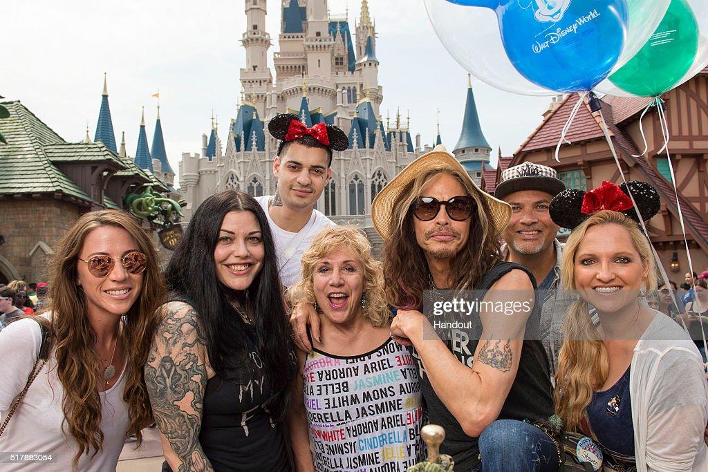 Steven Tyler Celebrates Birthday At Walt Disney World