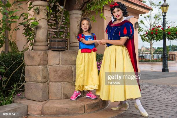 In this handout photo provided by Disney Parks sixyearold actress Aubrey AndersonEmmons who portrays 'Lily' on the hit ABC series 'Modern Family'...