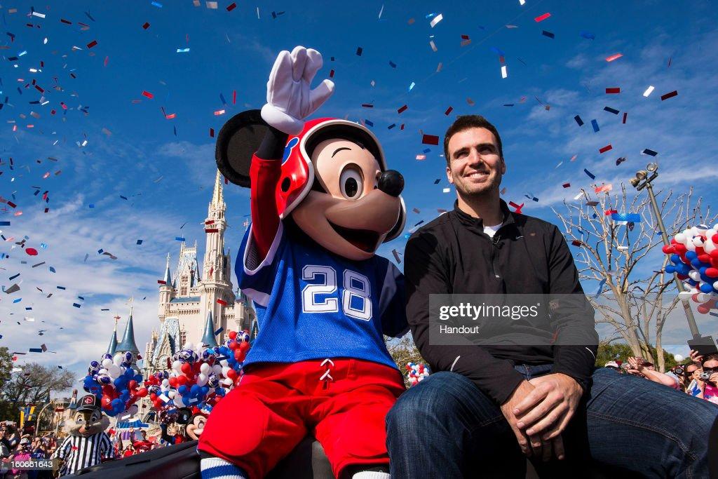 Joe Flacco Goes To Disney World Following Super Bowl XLVII Victory : News Photo