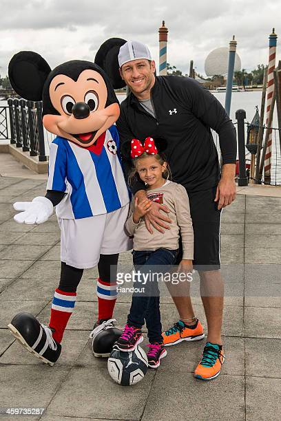 In this handout photo provided by Disney Parks the new bachelor on ABC's 'The Bachelor' and former professional soccer player Juan Pablo Galavis...
