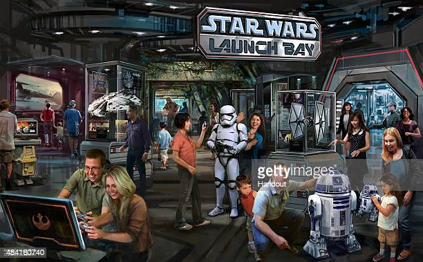 In this handout photo provided by Disney Parks the Star Wars Launch Bay coming to Disneyland Resort and Walt Disney World Resort is seen This...