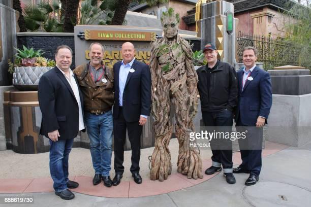 In this handout photo provided by Disney Resorts Chief Creative Officer of Marvel Entertainment Joe Quesada Walt Disney Imagineering Senior Vice...