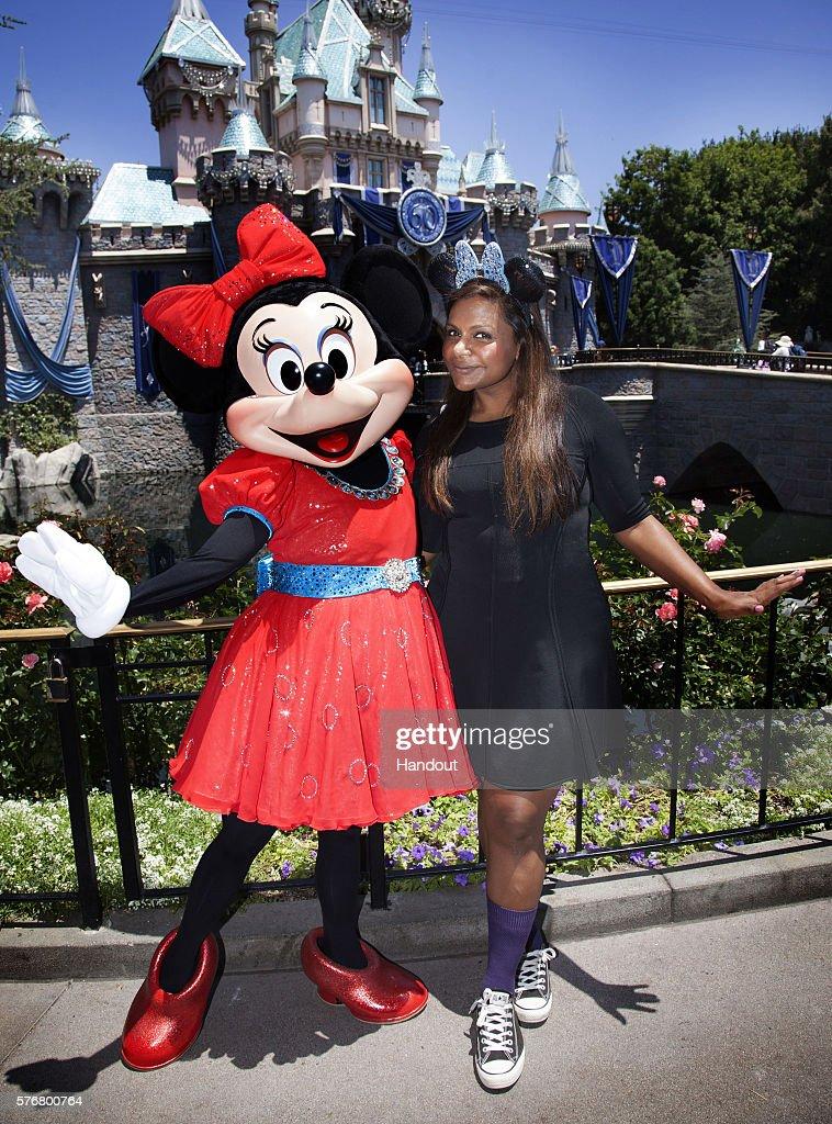 Mindy Kaling Visits Disneyland