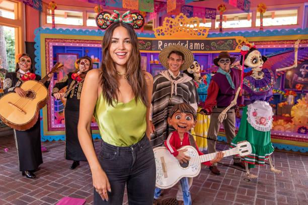 CA: Actress Eiza Gonzalez Visits Disneyland Resort