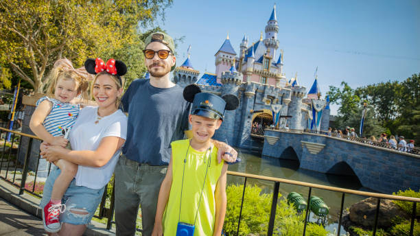 CA: Hilary Duff And Family Spend The Day At Disneyland Park