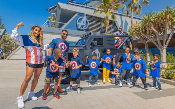 CA: Seattle Seahawks Quarterback Russell Wilson Named Earth's Mightiest Athletes At Disneyland Resort