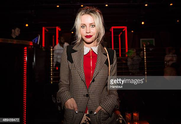 In this handout photo provided by FLAUNT Billie JD Porter attends the FLAUNT #CALIFUK Issue launch party with AG on September 20 2015 in London...