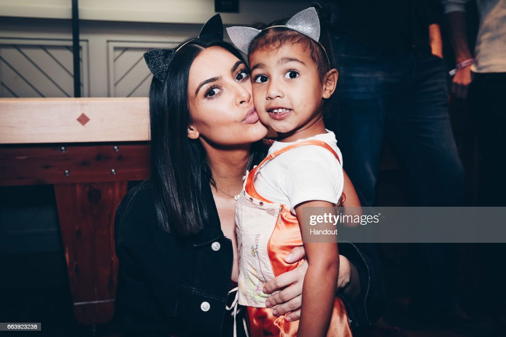 Kim Kardashian And North West Attend Ariana Grande's Dangerous Woman Concert At The Forum : News Photo