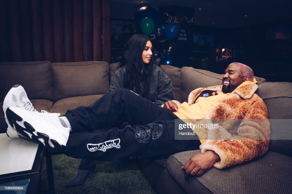 Kim Kardashian And Kanye West Attend The Travis Scott Astroworld Tour At The Forum