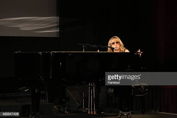 In this handout photo provided by FX Networks Stevie Nicks performs at a screening and conversation with Fox's 'American Horror Story Coven' at the...