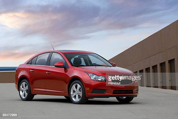 UNSPECIFIED In this handout photo provided by General Motors Chevrolet showcases the US production version of the 2011 Chevrolet Cruze The car will...