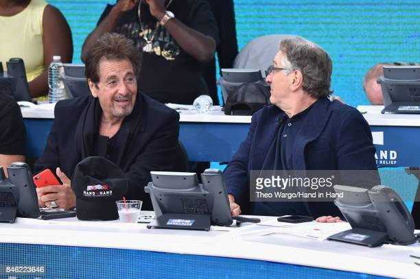 In this handout photo provided by Hand in Hand Al Pacino Robert De Niro attends Hand in Hand A Benefit for Hurricane Relief at ABC News' Good Morning...