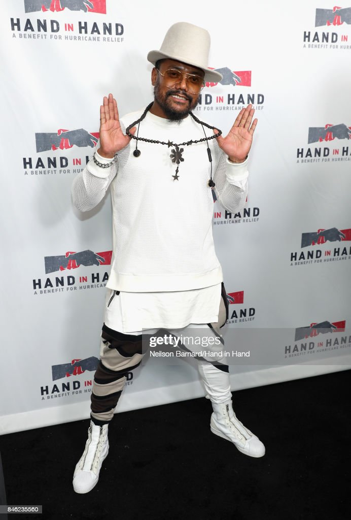 In this handout photo provided by Hand in Hand, Apl.de.ap attends Hand in Hand: A Benefit for Hurricane Relief at Universal Studios AMC on September 12, 2017 in Universal City, California.