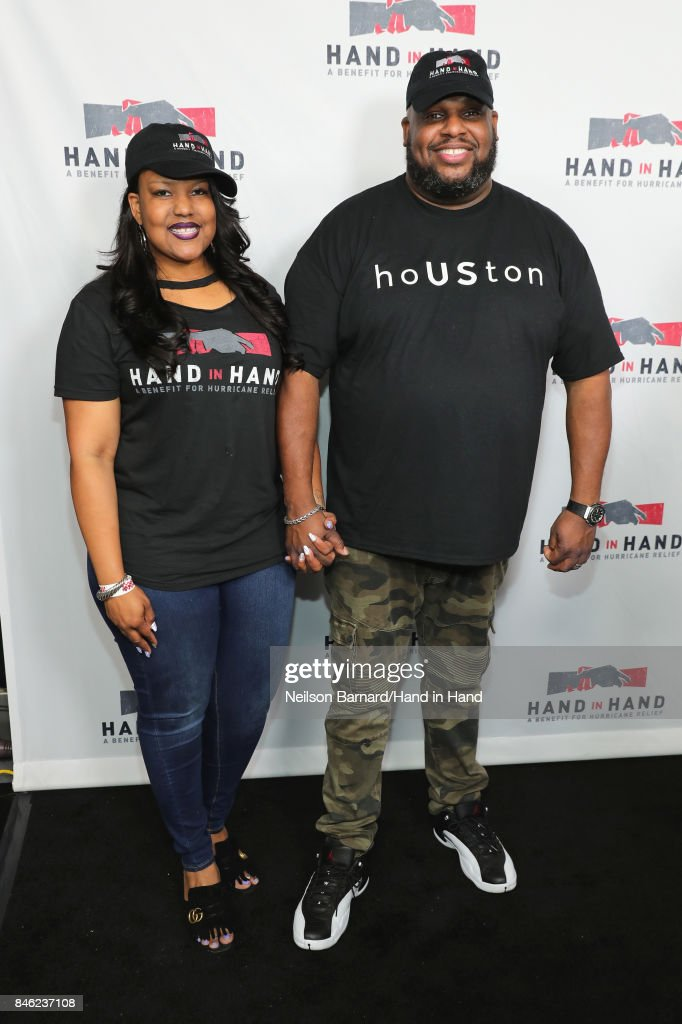 In this handout photo provided by Hand in Hand, Aventer Gray and Pastor John Gray attend Hand in Hand: A Benefit for Hurricane Relief at Universal Studios AMC on September 12, 2017 in Universal City, California.