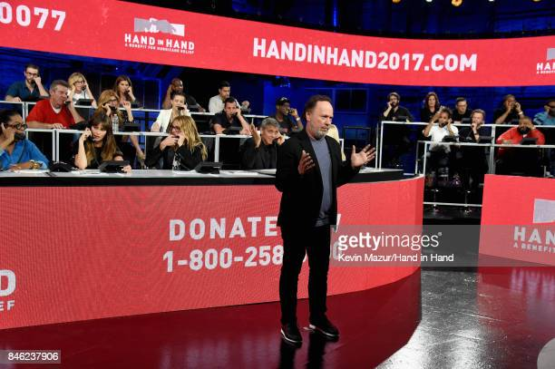 In this handout photo provided by Hand in Hand, Billy Crystal attends Hand in Hand: A Benefit for Hurricane Relief at Universal Studios AMC on...