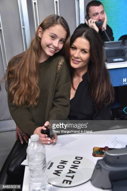In this handout photo provided by Hand in Hand, Carys Zeta Douglas and Catherine Zeta-Jones caption at ABC News' Good Morning America Times Square...