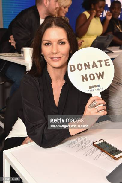 In this handout photo provided by Hand in Hand Catherine ZetaJones attends Hand in Hand A Benefit for Hurricane Relief at ABC News' Good Morning...