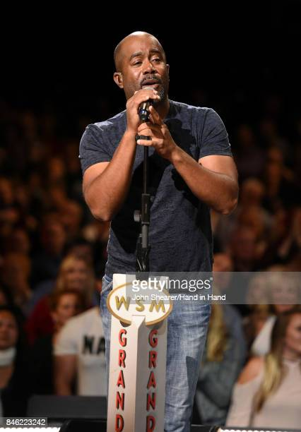 In this handout photo provided by Hand in Hand Darius Rucker performs onstage during Hand in Hand A Benefit for Hurricane Relief at the Grand Ole...
