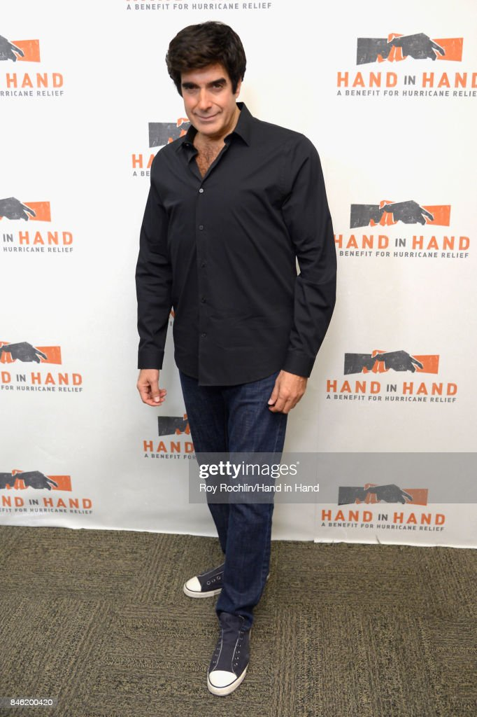 In this handout photo provided by Hand in Hand, David Copperfield caption at ABC News' Good Morning America Times Square Studio on September 12, 2017 in New York City.