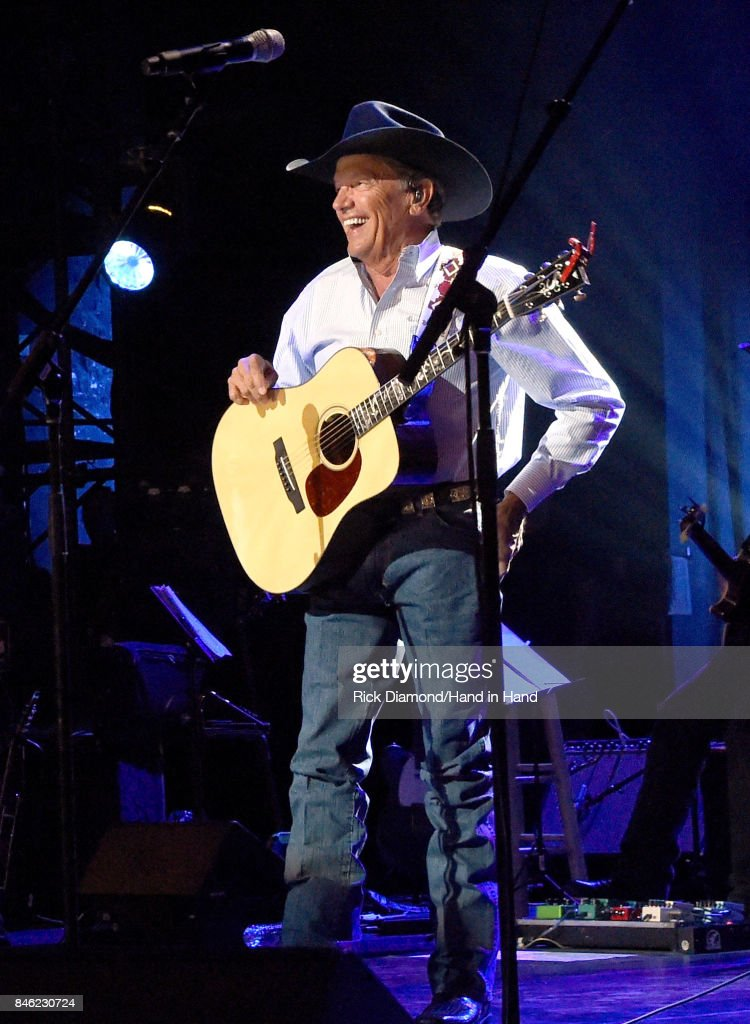 In this handout photo provided by Hand in Hand, George Strait performs onstage during George Strait's Hand in Hand Texas benefit concert; Strait and special guests Miranda Lambert, Chris Stapleton, Lyle Lovett and Robert Early Keen perform in concert at the Majestic Theatre on September 12, 2017 in San Antonio, Texas.