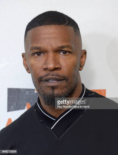 In this handout photo provided by Hand in Hand Jamie Foxx caption at ABC News' Good Morning America Times Square Studio on September 12 2017 in New...