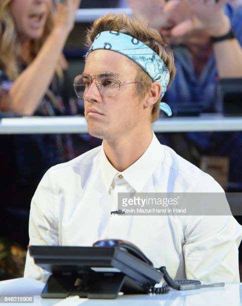 In this handout photo provided by Hand in Hand Justin Bieber attends Hand in Hand A Benefit for Hurricane Relief at Universal Studios AMC on...