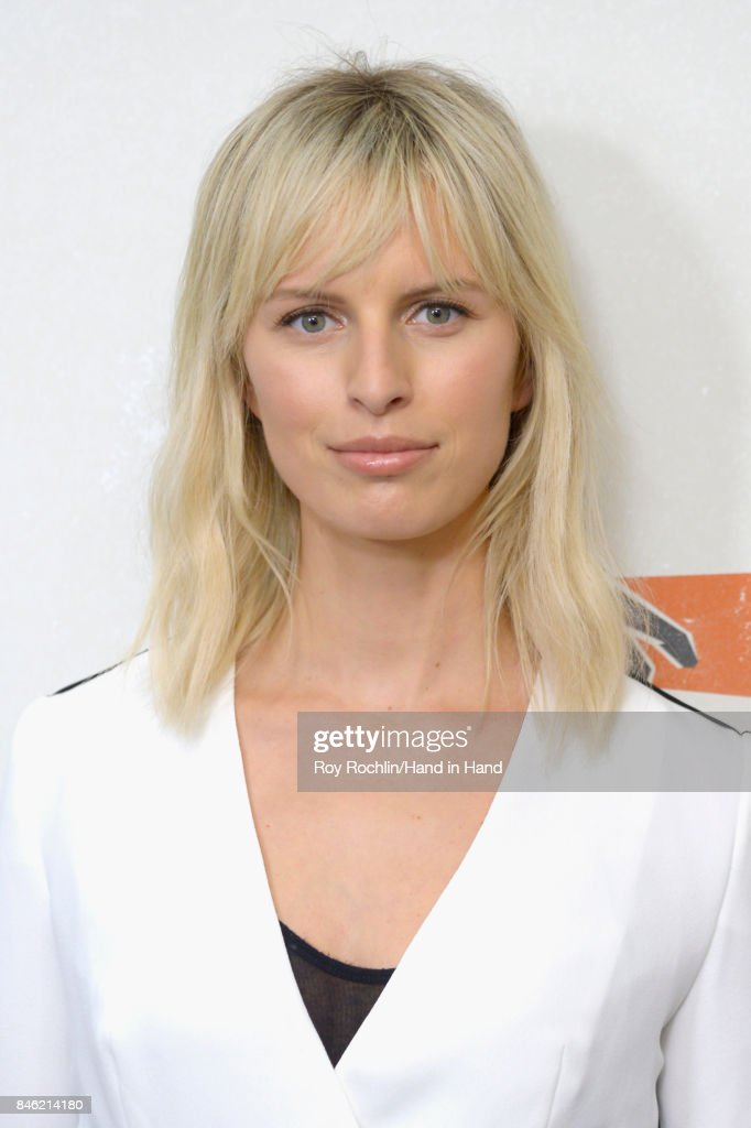 In this handout photo provided by Hand in Hand, Karolina Kurkova caption at ABC News' Good Morning America Times Square Studio on September 12, 2017 in New York City.
