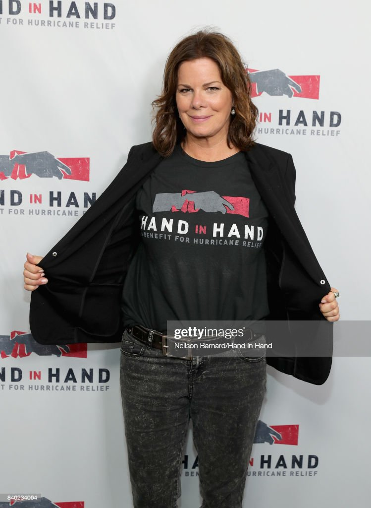 In this handout photo provided by Hand in Hand, Marcia Gay Harden attends Hand in Hand: A Benefit for Hurricane Relief at Universal Studios AMC on September 12, 2017 in Universal City, California.