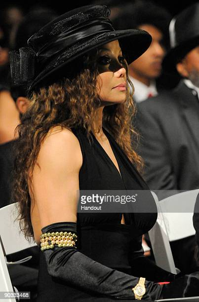 In this handout photo provided by Harrison Funk/The Jackson Family La Toya Jackson attends Michael Jackson's funeral service held at Glendale Forest...