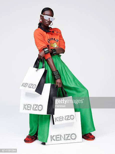 In this handout photo provided by H&M, a model wears KENZO x H&M during a private photo shoot for the 2016 Designer Collaboration Lookbook circa July...