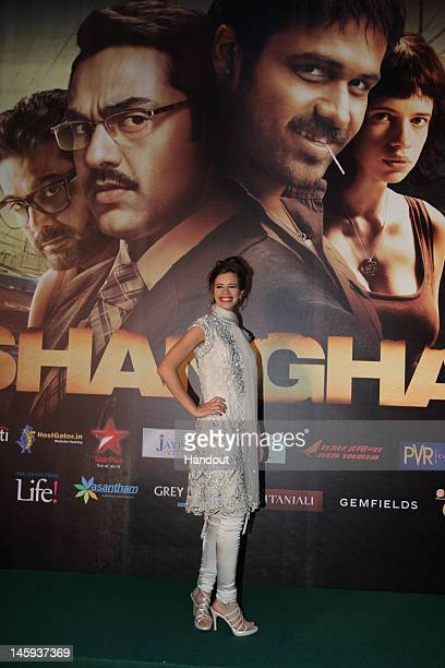 In this handout photo provided by IIFA Kalki at the IIFA World Premiere of Shanghai at Day One of the IIFA Awards on June 7 2012 in Singapore