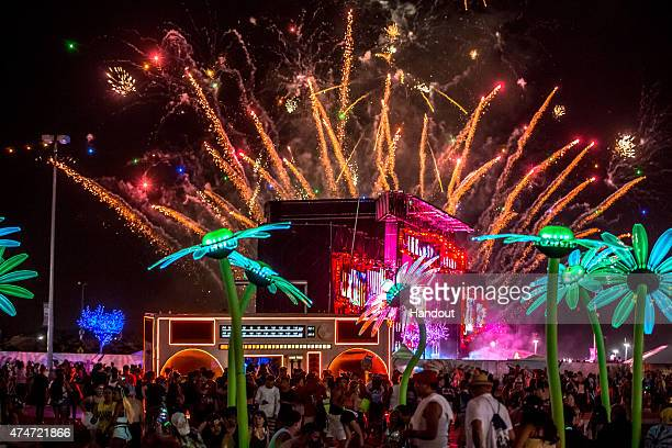 In this handout photo provided by Insomniac the 4th Annual Electric Daisy Carnival New York returns to MetLife Stadium Memorial Day weekend May 2324...