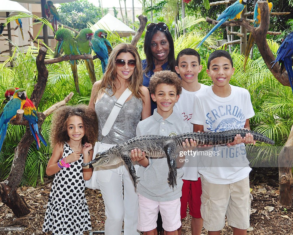 Larsa Pippen Takes Her Children To Jungle Island