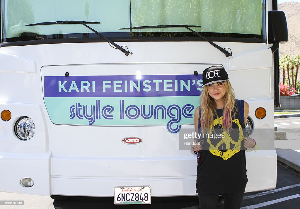 In this handout photo provided by Kari Feinstein PR, Ashley Benson Dope, Condition Culture in her hair, Rock On bracelet, Stella and Bow stackable rings attends the Kari Feinstein's style lounge on the road in the desert April 14, 2013 near Indio, California.