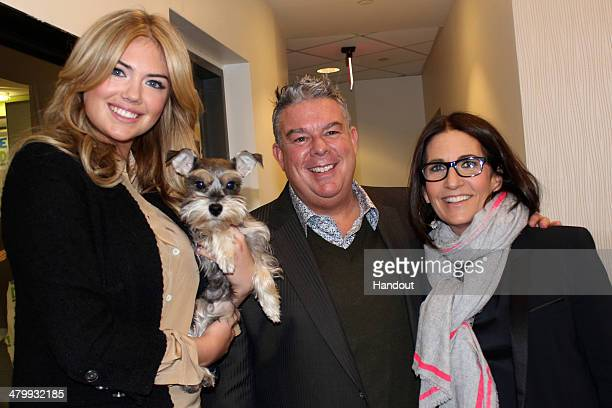 In this handout photo provided by Kathleen Heaney model Kate Upton and makeup artist Bobbi Brown with Elvis Duran visit 'The Elvis Duran Z100 Morning...